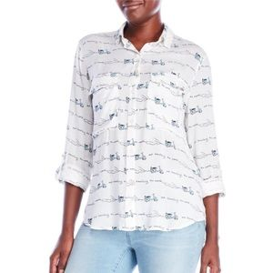 Nanette Lepore Out Travelling Button Down